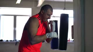 Boxer Warming Up Before the Fight