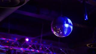 Disco ball in night club