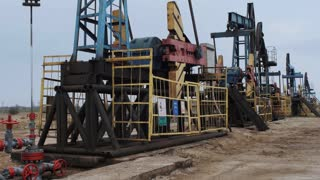 Extraction of oil pumping station