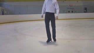 Figure Skater Skates On the Ice