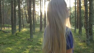 Follow the girl in the woods