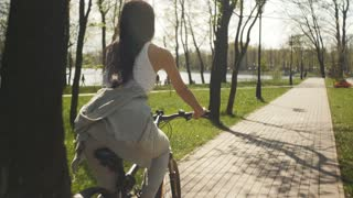 Follow the girl on a bicycle