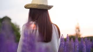 Girl in a Flower Grove