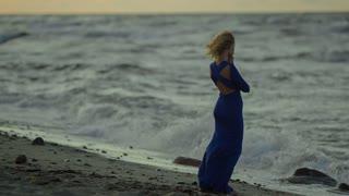 Girl looking at the horizon