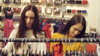 Girlfriends in a Clothing Store