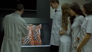 Interns Learn Rengen Body on the Touch Screen