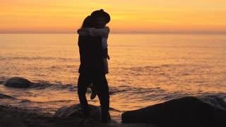 Love couple whirls