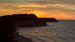 Orange Sunset Over the Bay