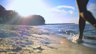 Summer Jogging Along the Shore