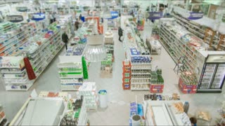 Supermarket timelaps