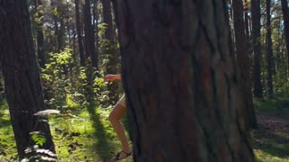 The Girl Walk Through the Woods