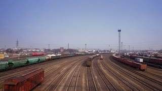 Train rides on rails