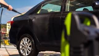 Washing of cars of high-pressure washing