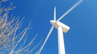 White windmill generates power