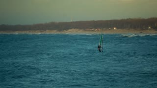 Windsurfer on the sea