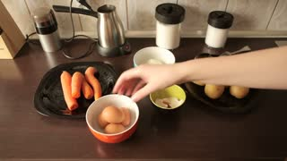 Preparing dinner at home in the kitchen. Healthy lifestyle