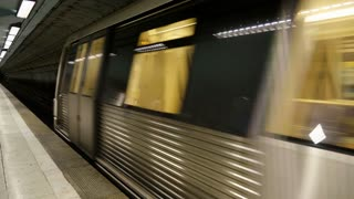 Subway train is comming to the station