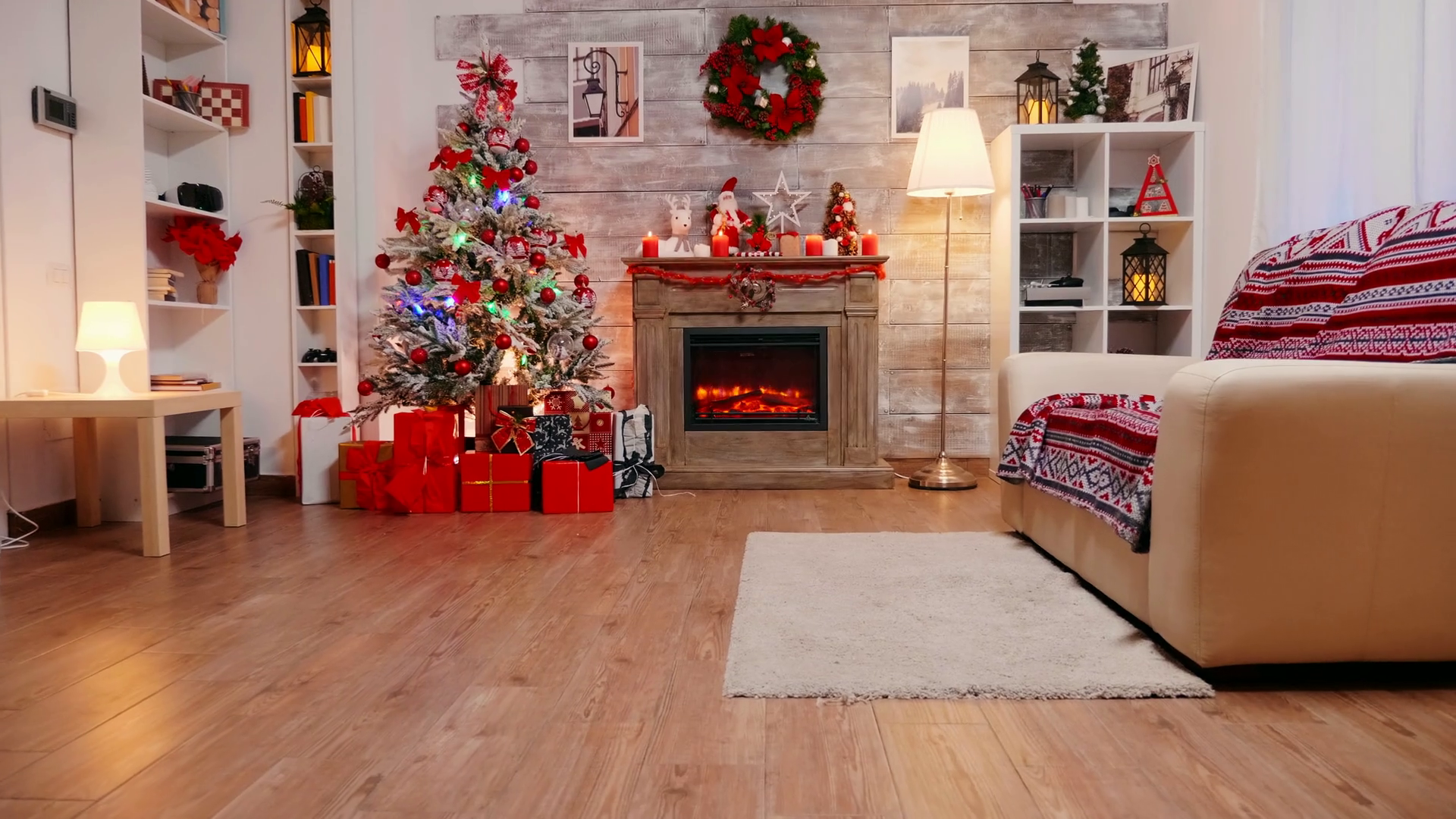 zoom in shot of fireplace burning in a room decorated for christmas celebration stock video footage storyblocks zoom in shot of fireplace burning in a room decorated for christmas celebration