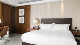 Bright stylish modern bedroom design