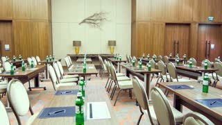 Large conference room with many seats