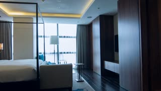 Modern hotel bedroom interior design