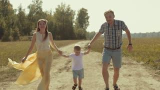 Family having fun with their son