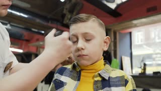 Hd 4k Boy Hairstyle Storyblocks Videos Royalty Free Boy