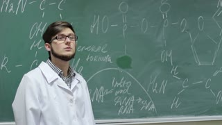 At the lesson of organic chemistry or microbiology
