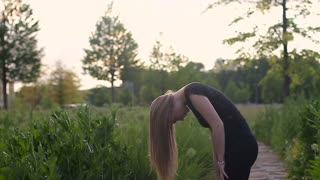 Attractive woman tossing her hair in slow motion