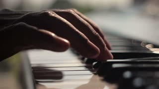 Piano played by a musician