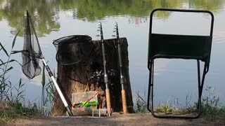 The place of the forthcoming fishing. Gear and equipment