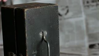 Vintage electrical measuring instrument. Close-up