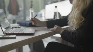 Business Woman Writing With Marker Pen