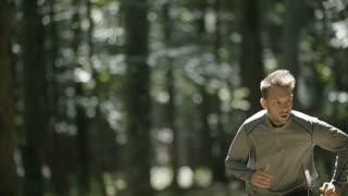 Young Man Running Jogging