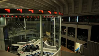 A Calm Day at the Tokyo Stock Exchange