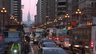 A timelapse of busy evening traffic in San Francisco