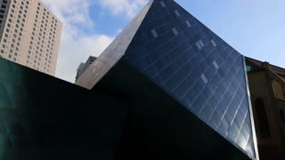 A view of the architecture of the Contemporary Jewish Museum in San Francisco