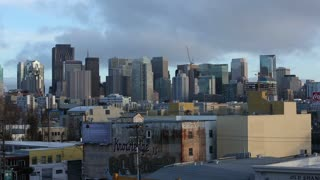 A view of the San Francisco Skyline on a moody late afternoon