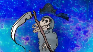 A zoom in on an animated Grim reaper