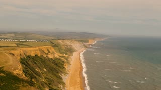 Cliffs and Beach Along the Coast of England