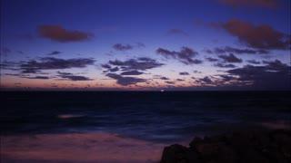 Dramatic Florida morning Sunrise approaches via timelapse