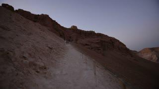 Handheld portion of the long mountain climb to ancient ruins of Masada