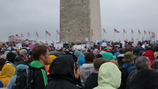 Huge Crowd Rallies near Washington Monument for DC March for Science
