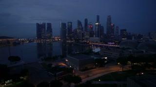 Short timelapse of the Singaporean skyline at Night