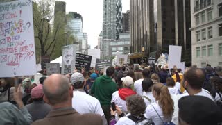 Speakers get underway at the 2017 New York City March for Science