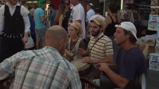 Street Musicians play in a Jerusalem market