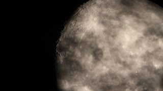 Telescopic Timelapse of the Moon as it is Enveloped by Clouds