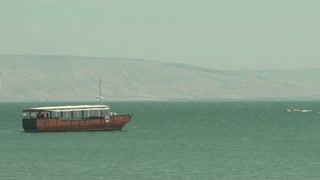 Three Boats Pass on the Sea of Galilee