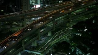 Timelapse of Tokyo Traffic at Night