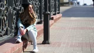 Cute models on the street.